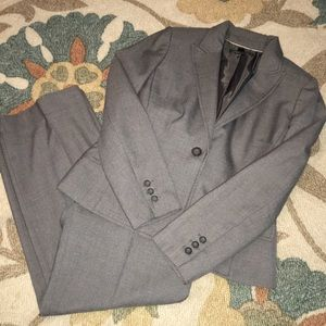 Anne Klein Gray Wool Pant Suit